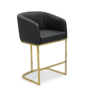 Stevan Bar & Counter Stool in Gold Frame by Everly Quinn
