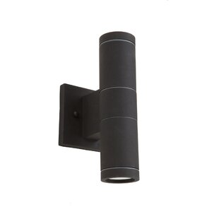 Epsilon 2-Light Metal Shade Outdoor Sconce