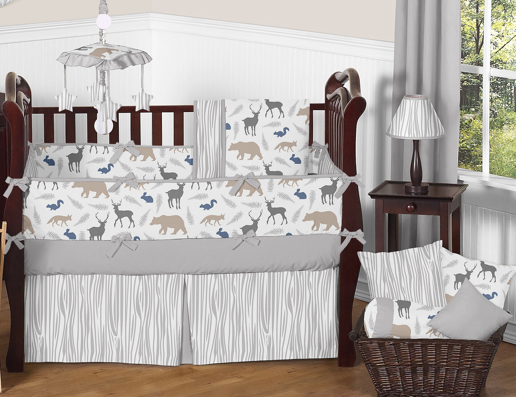 Sweet jojo designs woodland animals piece crib bedding set