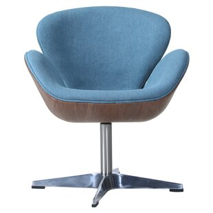 Orren Ellis Rudder Swivel Barrel Chair