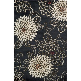 Top Reviews Olivia Hand-Tufted Black/White Area Rug By World Menagerie