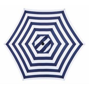 Darwen Tiltable Patio Stripe 9' Market Umbrella by Three Posts