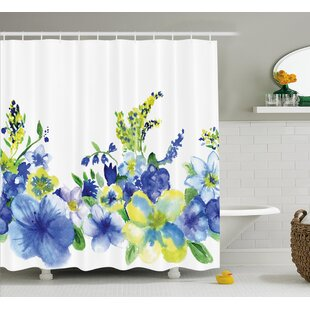 Swirled Brushstroke Herbs Decor Shower Curtain + Hooks