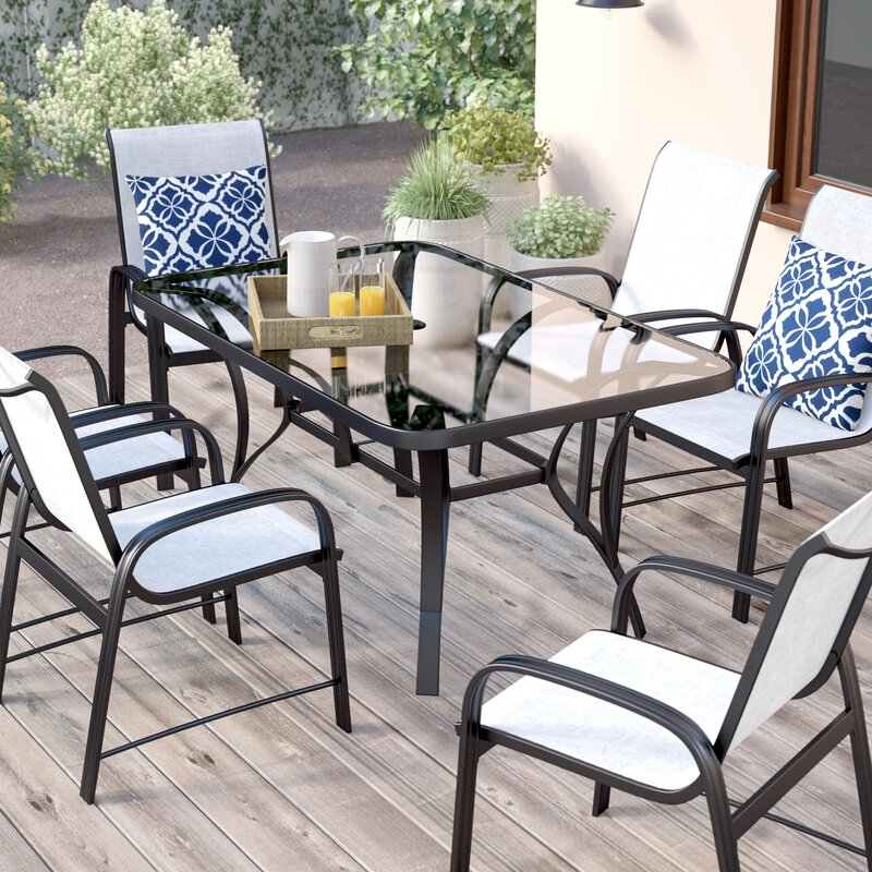 Bellbrook 7 Piece Patio Dining Set Part 98