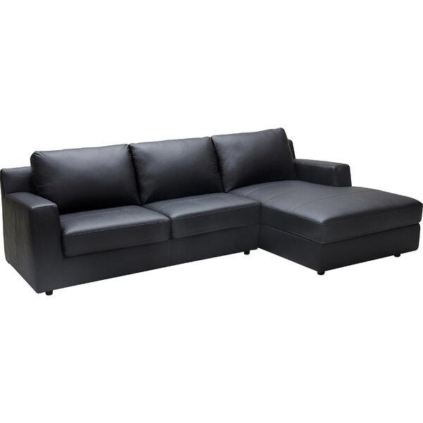 Arguello Leather Sleeper Sectional
