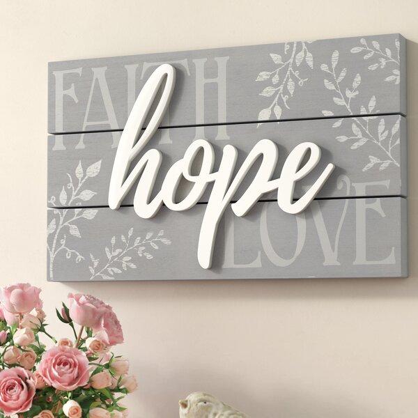 Hope Faith Love Wall Decor Wayfair