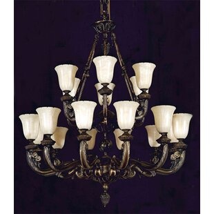 Titusville 18-Light Shaded Chandelier by Astoria Grand