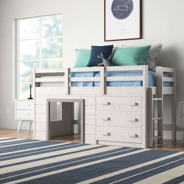 Harriet Bee Tressa Twin Low Loft Bed With Drawers And Shelves Reviews Wayfair