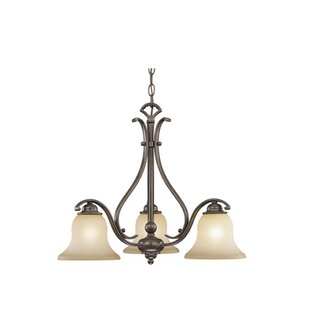 Three Posts Enfield 3-Light Shaded Chande..