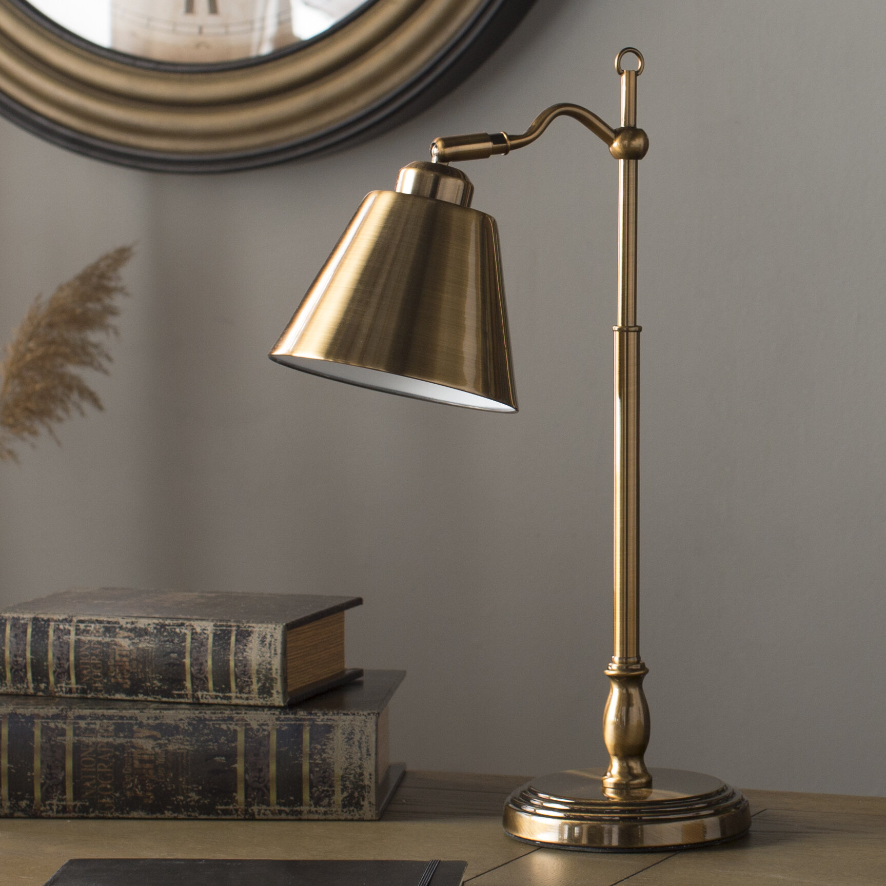 Hamilton 19 antique brass desk lamp reviews joss main