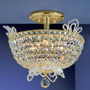 Classic Lighting Crown Jewels 6-Light Semi-Flush Mount
