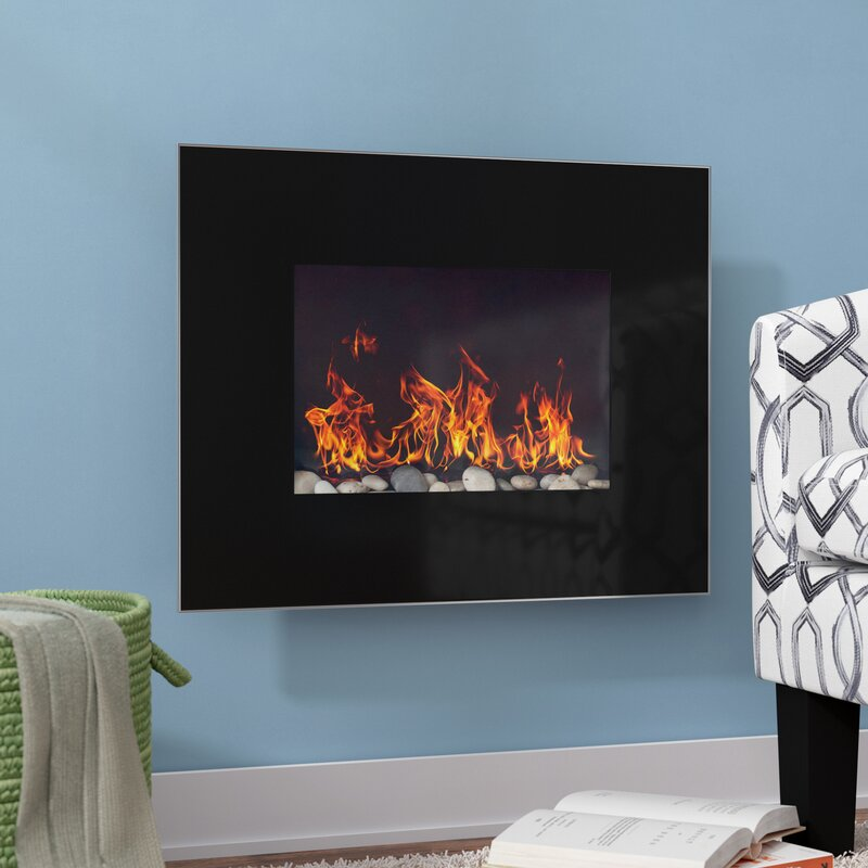 Ebern Designs Bartlow Wall Mounted Electric Fireplace Reviews Wayfair