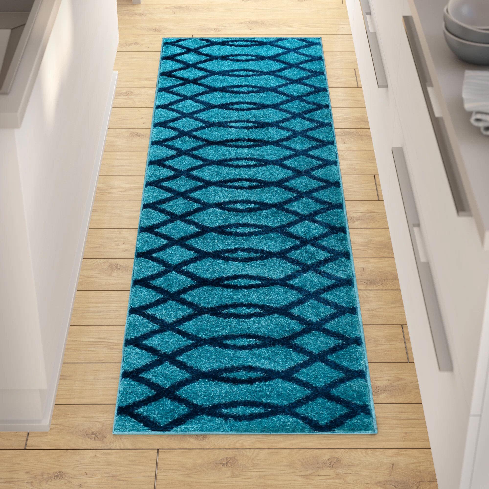 Andover Mills Chrisman Geometric Light Blue Area Rug Reviews Wayfair