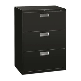 HON Brigade 600 Series 3-Drawer Vertical Filing Cabinet