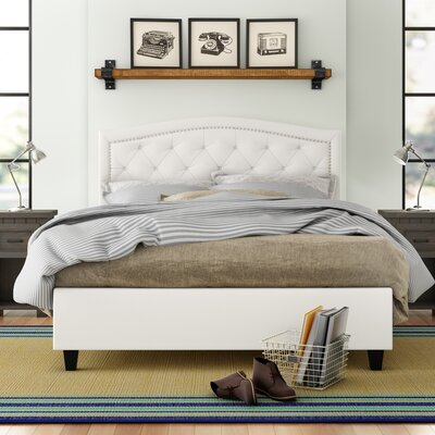 Searcy Tufted Upholstered Low Profile Platform Bed Three Posts Teen Size: Queen
