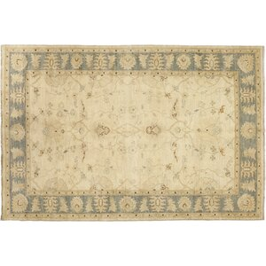 One-of-a-Kind Oushak Hand-Knotted Beige Area Rug