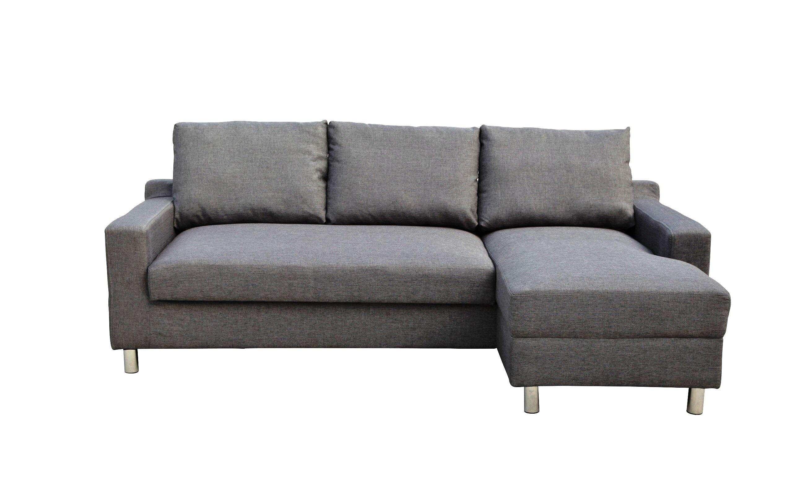 wade logan lainey sectional sofabed grey right facing wayfair rh wayfair com sofa bed grey ebay sofa bed grey ikea
