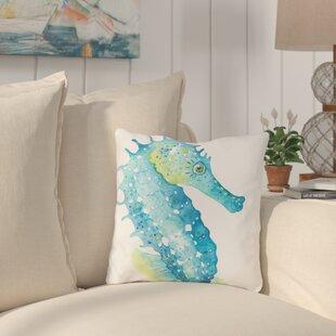 Holmgren Seahorse Outdoor Throw Pillow