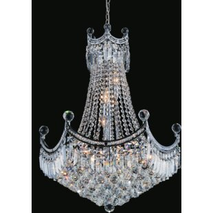 Amanda 10-Light Chandelier by CWI Lighting