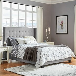 Three Posts Bourgeois Tufted Upholstered Panel Bed
