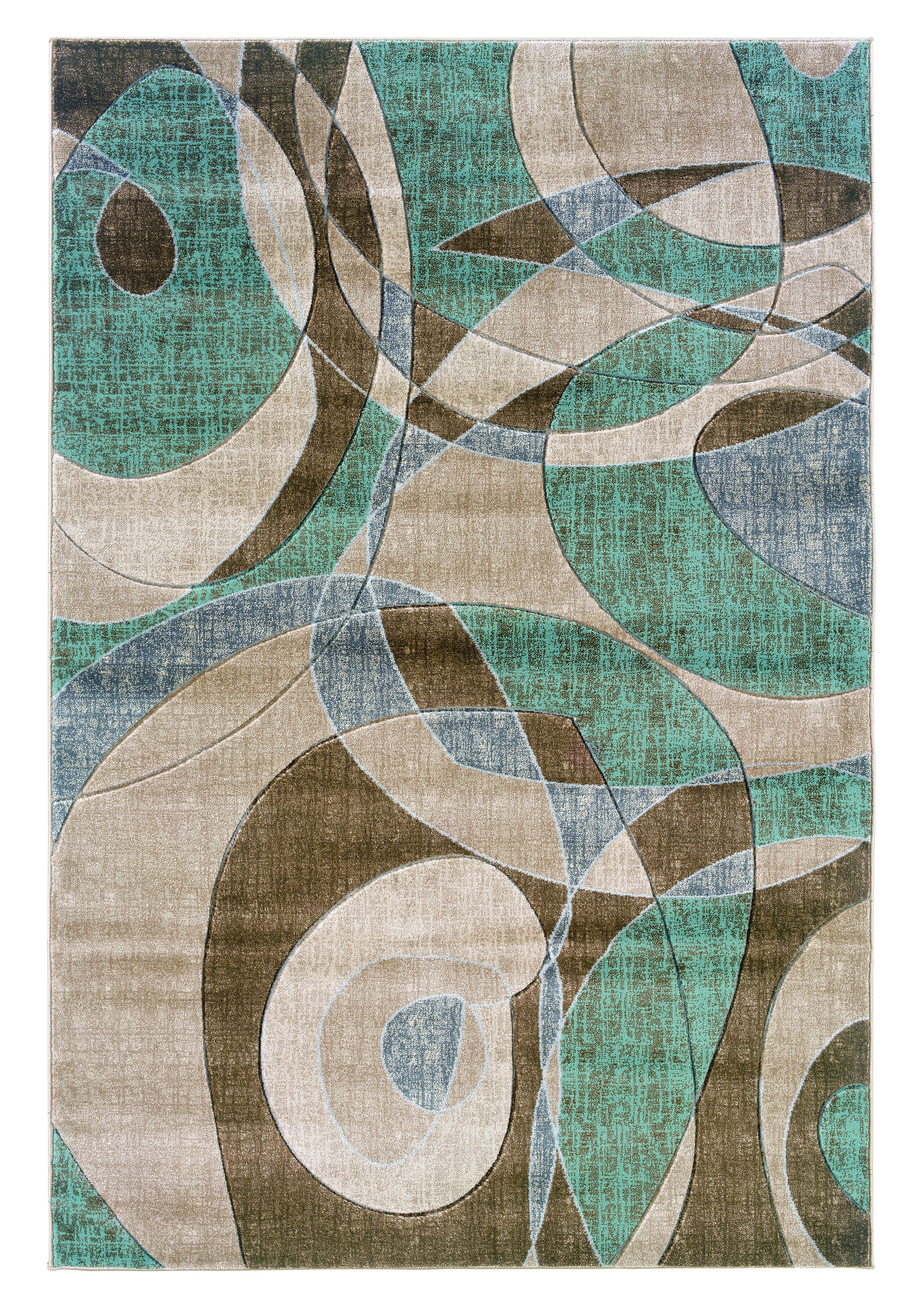 Picture of: Carina Brown Turquoise Area Rug Reviews Allmodern