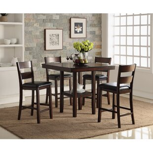 Cromwell Counter 5 Piece Breakfast Nook Solid Wood Dining Set by Bernards