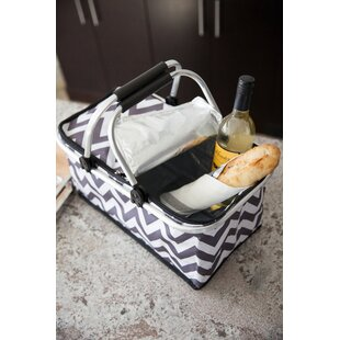 Insulated Picnic Basket, Service for 4