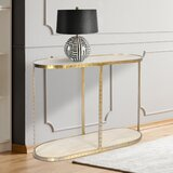 Whobrey 39.37'' Solid Wood Console Table by Everly Quinn