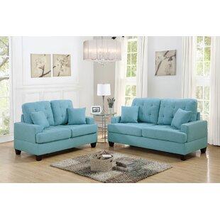 Ebern Designs Araromi 2 Piece Living Room Set