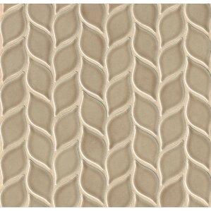 park place foliole ceramic mosaic tile in brown
