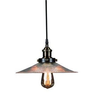 Inexpensive Shiloh 1-Light Cone Pendant By Warehouse of Tiffany