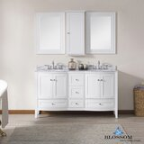 Glendale 60 Double Bathroom Vanity Set with Mirror by Darby Home Co