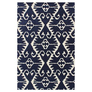 Kouerga Royal Blue/Ivory Rug By Bungalow Rose