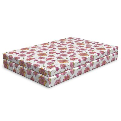 Ambesonne Lotus Flower Dog Bed Pattern With Pink Blossoms