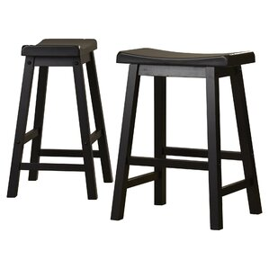 Bates Bar Stool Black (Set of 2) by Andov..