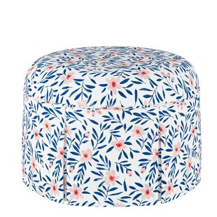Harriet Bee Eckles Round Skirted Ottoman