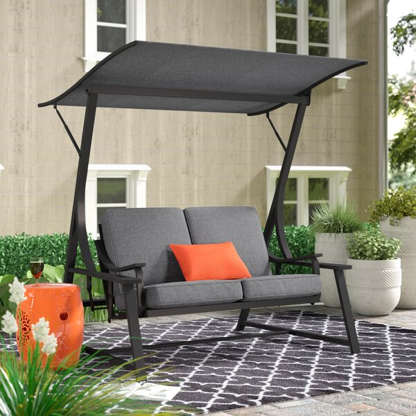 Andover Mills Marquette Glider Porch Swing With Stand U0026 Reviews | Wayfair