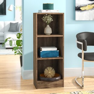 Matheny Short 3 Shelf Standard Bookcase by Charlton Home