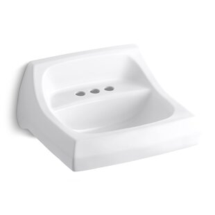 Reviews Kingston Ceramic 22 Wall Mount Bathroom Sink with Overflow By Kohler