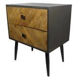 Reid Rustic Wood 2 Drawer Nightstand by Corrigan Studio®
