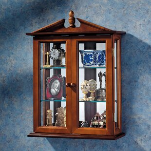 Amesbury Manor Wall Mounted Curio Cabinet