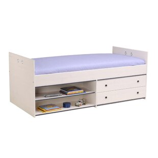Raffa Twin Platform Bed with Drawer by Harriet Bee