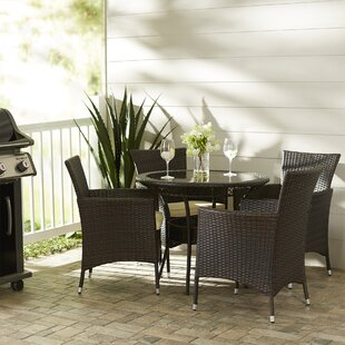 Berumen 5 Piece Dining Set with Cushions