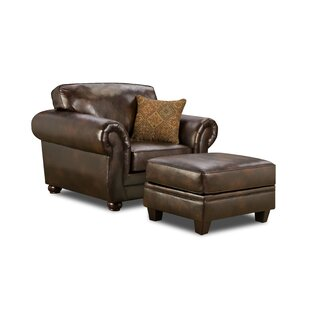 Simmons Upholstery Obryan Club Chair with Ottoman