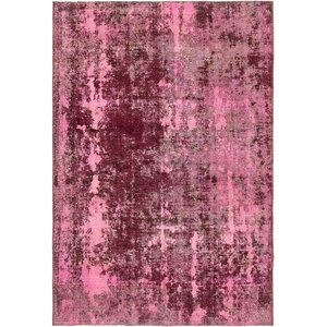 Sela Vintage Persian Hand Woven 100% Wool Rectangle Pink Oriental Area Rug