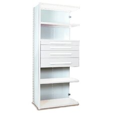 V-Grip 84 Shelving with Drawers Unit - 4Dr with 5 Shelf Closed AddOn by Equipto