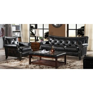 Pennypacker 2 Piece Leather Sofa Set By Rosalind Wheeler