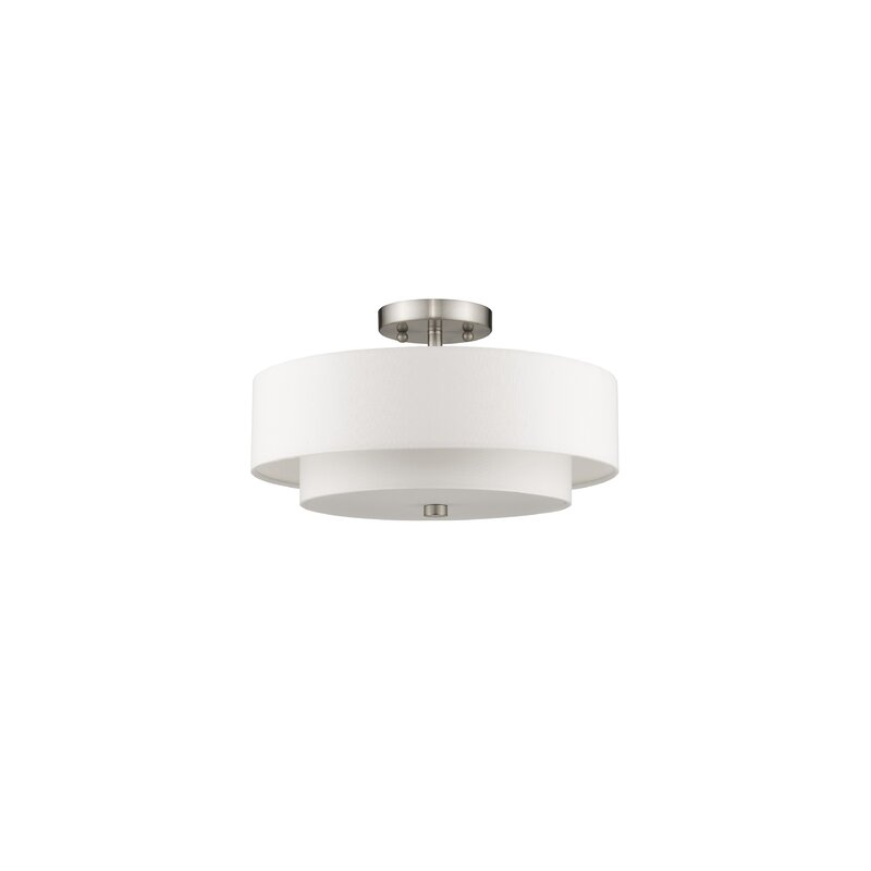Zipcode Design  Brittnie 3-Light Semi Flush Mount