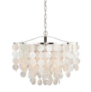 Modern contemporary capiz shell chandelier allmodern kym modern capiz shell mini pendant aloadofball Gallery