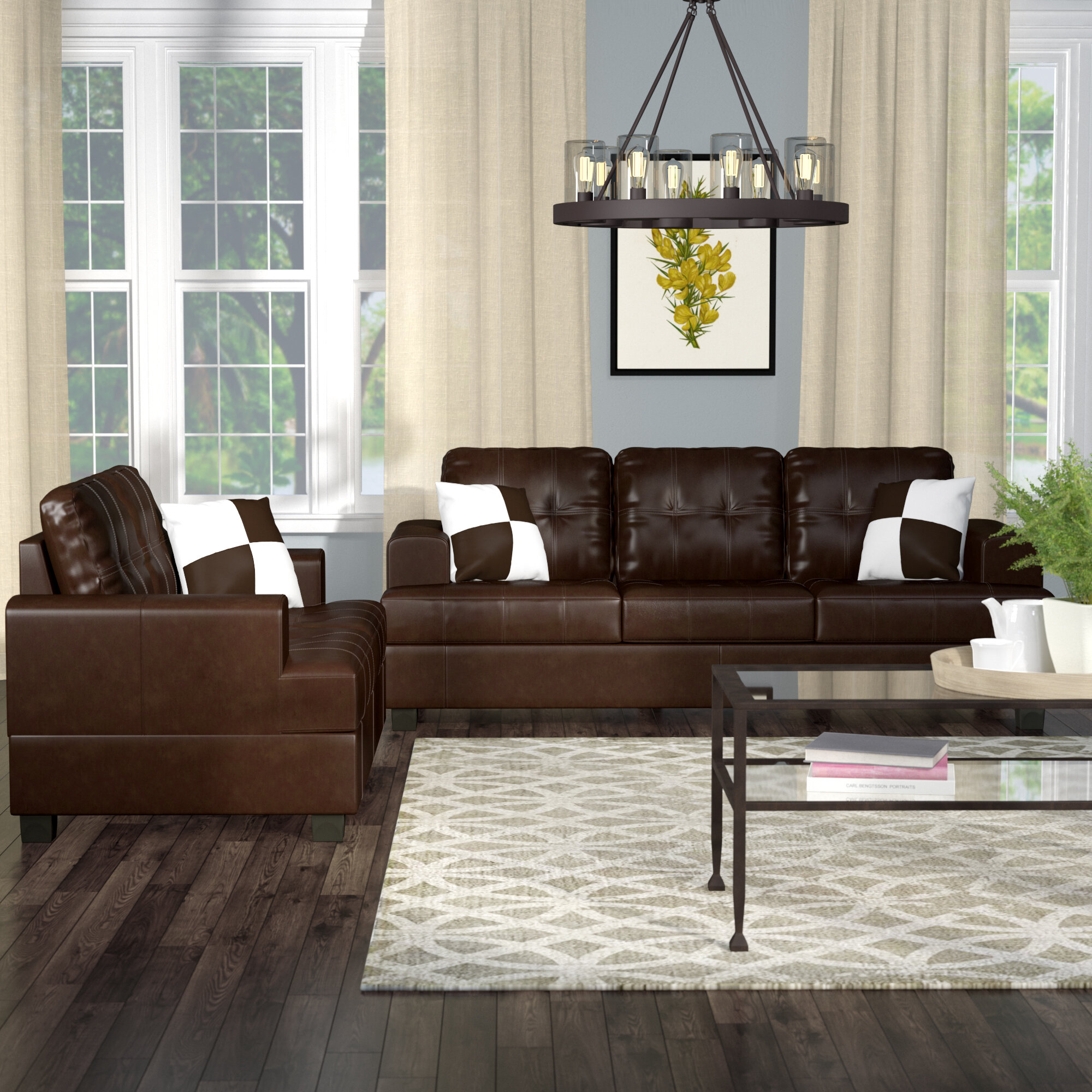 Fabulous Wamsutter 2 Piece Living Room Set Lamtechconsult Wood Chair Design Ideas Lamtechconsultcom